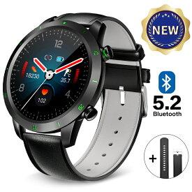 【 Bluetooth5.2 8連冠 】 楽天1位 スマートウォッチ 体温測定 血圧 心拍計 血中酸数 Bluetooth 5.2 腕時計 活動量計 歩数計 IP67防水 時計 着信通知 消費カロリー 睡眠モニター iphone Android Line対応 男女兼用