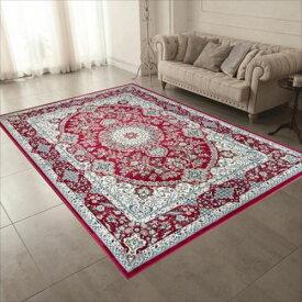 ベルギー製 モケット織りカーペット 195X250cm レッド R148763RE  【abt-1407374】【APIs】