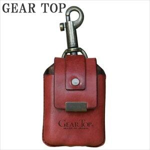 GEAR TOP オイルライター専用 革ケース キーホルダー付 GT-213 RD  【abt-1203280】【APIs】