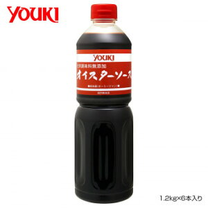 YOUKI ユウキ食品 化学調味料無添加オイスターソース 1.2kg×6本入り 212037  【abt-1661125】【APIs】 (軽税)