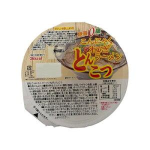 ナカキ食品 カップこんにゃくラーメンシリーズ 蒟蒻ラーメンとんこつ 12個セット×2ケース  【abt-1663500】【APIs】 (軽税)