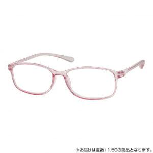 ベルエクレール抗菌老眼鏡 クリアピンク +1.50  【abt-1693285】【APIs】