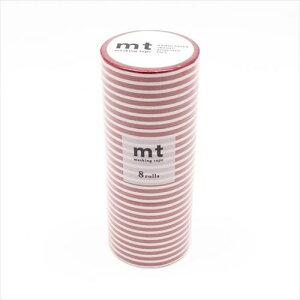 mt マスキングテープ 8P ボーダー・いちご MT08D382  【abt-1280247】【APIs】