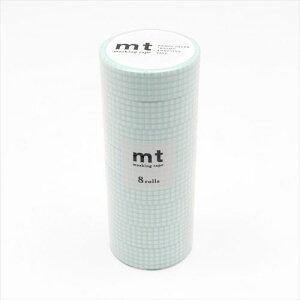 mt マスキングテープ 8P 方眼・ミントブルー MT08D395  【abt-1280260】【APIs】