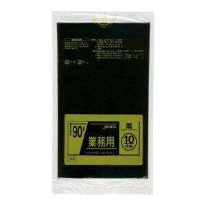 ジャパックス スタンダードポリ袋90L 黒 10枚×30冊 TM92  【abt-1556342】【APIs】