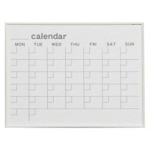 馬印 MR series(エムアールシリーズ)壁掛 予定表(カレンダー)ホワイトボード W610×H460mm MR2W  【abt-8880bl】【APIs】