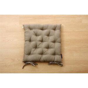 クッション シート 椅子用 綿100% 無地 シンプル 『ルージュ』 ブラウン 約40×40cm 2枚組