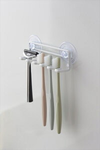 吸盤で簡単取り付けの歯ブラシホルダー