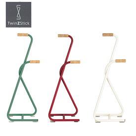 杖 立ち上がり補助 Twin Z Stick おしゃれ 北欧 (オフホワイト / ディープレッド / フォレストグリーン)