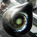 【送料無料!】1点物、オパール入り ブラックホールネックレス/宇宙ガラス/宇宙ガラスネックレス/ガラスペンダント/ガラスネックレス 宇宙/宇宙 ネックレス/日本...