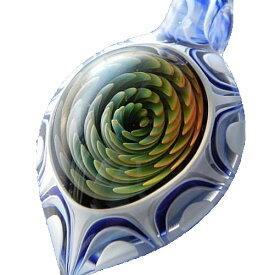 1点物、宇宙 ブラックホールペンダント スパイラルペンダント 宇宙 宇宙ネックレス 宇宙ガラスペンダント 日本製 ハンドメイド ブランド<TOMOMATSU GLASS>【auktn】【売れ筋】【送料無料】