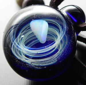 1点物、ガラスネックレス 惑星 宇宙ガラス 惑星 メンズネックレス ガラスペンダント 宇宙 メンズペンダント/レザーチョーカー 日本製 ハンドメイド ブランド<Dragon Pipe>【auktn】送料無料