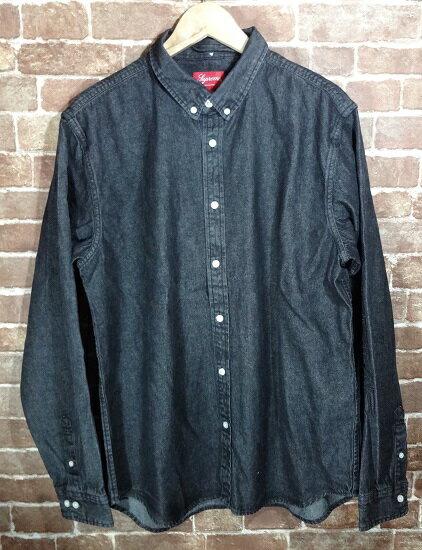 【未使用品】Supreme 18ss Denim Shirt/シュプリーム デニムシャツ 18スプリングサマー【送料無料】【サイズ:XL】【沼津店】[併売:00514]