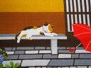 【小風呂敷】三毛猫みけのゆめ日記【みけの梅雨】