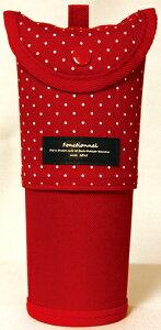 【8/1から最大450円OFFクーポン!】ファニーズ スライドペンケース ドットRD/Funny's FONCTIONNEL ファンクショナル 筆箱 ペンポーチ ペン立て 立つペンケース ペンスタンドペンポーチ 大容量 大