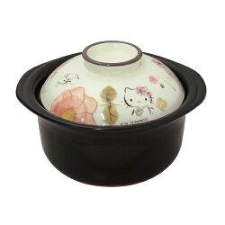 【送料無料】ハローキティ萬古焼ごはん鍋(桜)2合炊き0300-0010