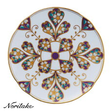 【送料無料】Noritake(ノリタケ)オマージュコレクション18cmクーププレート(雲母金彩花文)T2410/H-771