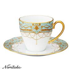 【送料無料】Noritake(ノリタケ)オマージュコレクションコーヒー碗皿(藍白絵唐草文)T2403/H-772
