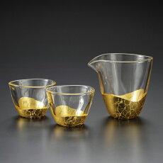 【送料無料】箔一金箔貫入酒器セットA161-03023