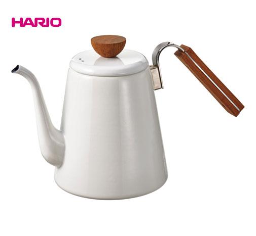 【送料無料】HARIO(ハリオ)ボナ・琺瑯 ドリップケトルBDK-80-W