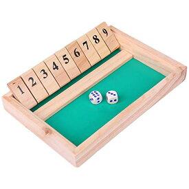 [ルボナリエ] shut the box game jackpot dice ザ ゲーム シャット・ザ・ボックス Shut The Box シャットザボックス ボードゲーム ジャックポット ゲーム 室内遊び テーブルゲーム パーティーゲーム 家 ゲーム 飲み会 アナログゲーム サイコロ おもちゃ 玩具 子供 大人