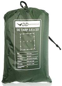 【お買い物マラソン ポイント10倍】DDタープ 3.5m DD Tarp 3.5×3.5 DDハンモック 日よけ 防水 アウトドア キャンプ オリーブグリーン 送料無料