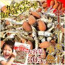\送料無料1,180円!/たっぷり305g!<ホールアーモンド小魚>(国産小魚)味付けロースト粒アーモンドがカリッ♪チ…
