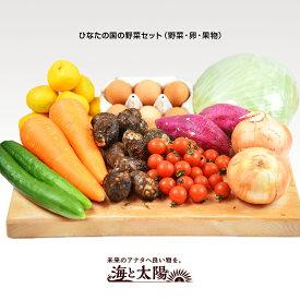 \送料無料/<ひなたの国の野菜セット(野菜・卵・果物)> 宮崎県の美味しい野菜たちをお届けします♪ 海と太陽