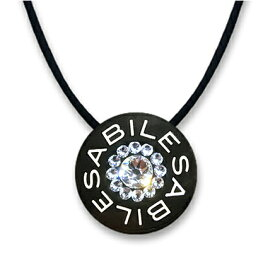 ABILES plus Crystalネックレス Type3ブラック S・Lサイズ
