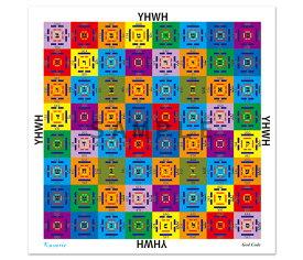ハンカチ 神韻(GOD CODE)52×52cm