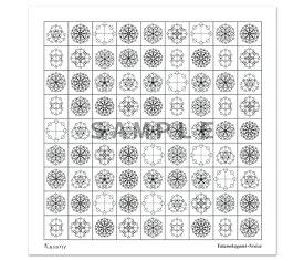 ハンカチ ヤタノカガミベシカ52×52cm