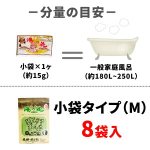 天然湯の花小袋タイプ(M)は8日分