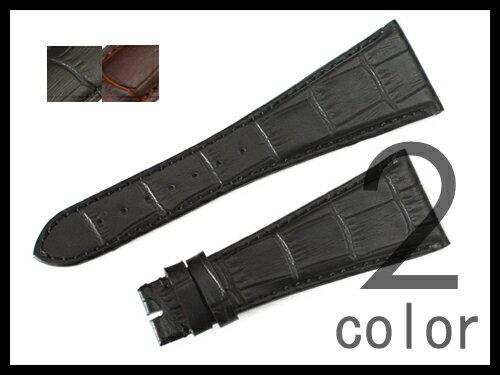 「ブルガリ(BVLGARI)向け」輸入王オリジナル ベルト アショーマ AA48/AA44/AA39用 型押しクロコ 社外品 メンズ 腕時計用