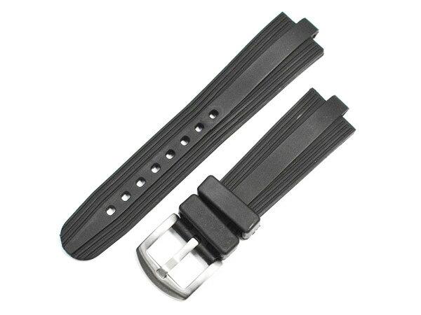 「ブルガリ(BVLGARI)向け」輸入王オリジナル アルミニウム AL29/AL38/AL44用 ベルト ラバー ブラック 社外品 メンズ レディース 腕時計用