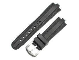 「ブルガリ(BVLGARI)向け」輸入王オリジナル ディアゴノ カリブロ DG42用 ベルト ラバー ブラック 22/18mm 社外品 メンズ 腕時計用