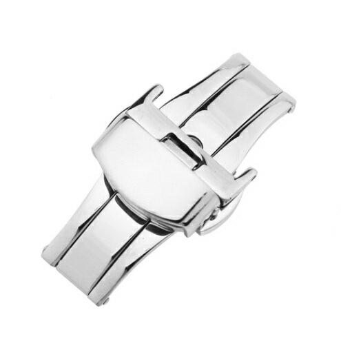 「ブルガリ(BVLGARI)向け」輸入王オリジナル バックル アショーマ AA48/AA44/AA39用 プッシュ式 Dバックル 社外品 メンズ 腕時計 ベルト用