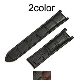 「カルティエ(Cartier)向け」輸入王オリジナル パシャ用 ベルト 社外品 型押しクロコ メンズ レディース 腕時計用 片側折込タイプ