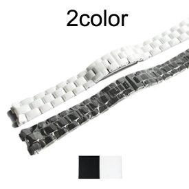 「シャネル(CHANEL)向け」輸入王オリジナル J12 用 セラミックブレス 社外品 16mm/19mm ホワイト/ブラック メンズ レディース