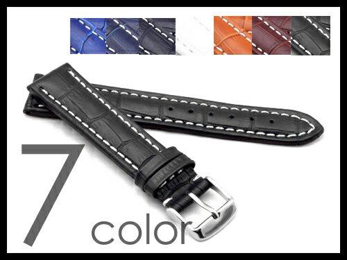 「フランクミュラー(FRANCK MULLER)向け」輸入王オリジナル ベルト 型押しクロコ 社外品 メンズ 腕時計用