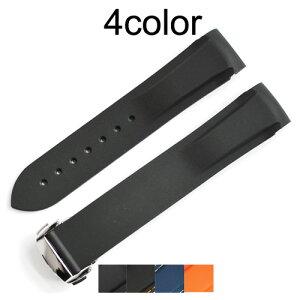 「 オメガ (OMEGA)向け」輸入王オリジナル シーマスター Dバックル付 ラバー ベルト 社外品 メンズ 腕時計用
