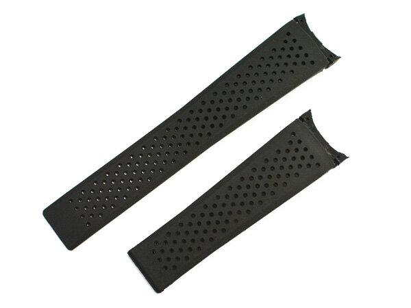 「タグホイヤー(TAGHEUER)向け」輸入王オリジナル Dバックル ラバーベルト 社外品 ブラック グランドカレラ キャリバー 36用 22/18mm メンズ 腕時計用