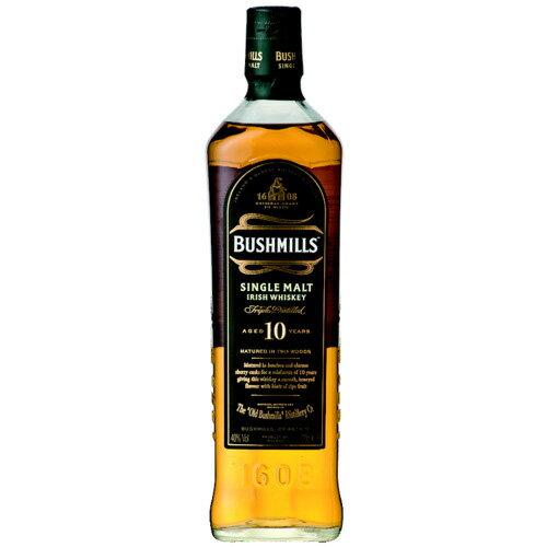 ウイスキー ブッシュミルズ シングルモルト 10年 並行品 700ml (37-0)(70907) 洋酒 Whisky