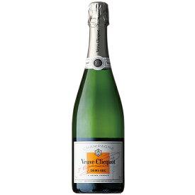 シャンパン ヴーヴクリコ ホワイトラベル (ドミセック) 750ml (C125) 泡 ワイン Champagne(72-0)