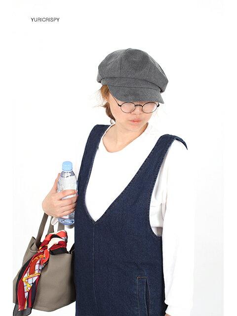 洗い加工綿素材キャスケット帽子/夏帽子