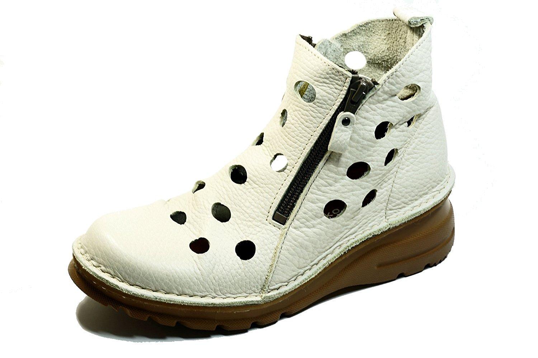 サマーブーツ 日本製 yuriko パンチング 両ファスナー 本革痛くない靴 疲れない靴 黒 本革 レディース 靴 パンチング ショート ぺたんこ/yuriko matsumoto 送料無料