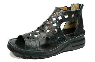 日本製サマーブーツパンチングyurikomatsumoto前あき本革痛くない靴疲れない靴黒本革レディース靴パンチングショートぺたんこyurikomatsumoto送料無料