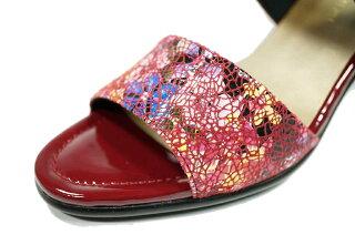 ミュール歩きやすいyurikoshoes黒サンダルミュールヒールウェッジソール革【送料無料】yurikomatsumoto