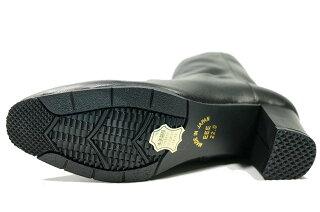 ブーツレディース本革yurikomatsumoto痛くない疲れない靴日本製ブーツ低反発本革痛くない靴疲れない靴黒レディースかわいいヒール