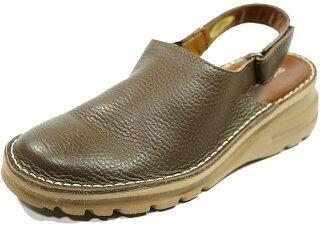 サンダルバックバンドサボ本革痛くない靴疲れない靴黒本革レディース靴軽量ぺたんこyurikomatsumoto送料無料