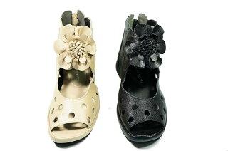サマーブーツパンチングブーツ本革日本製夏ブーツ痛くない靴疲れない靴黒本革レディース靴ぺたんこyurikomatsumoto送料無料